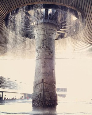 Fountain at Museo Nacional de Antropologia